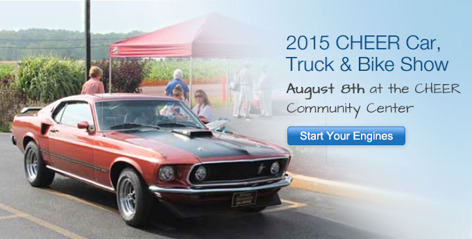 CHEER Car, Truck & Bike Show Aug 8, 2015